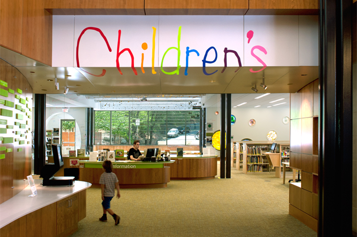 Los Gatos Library Children's Entrance
