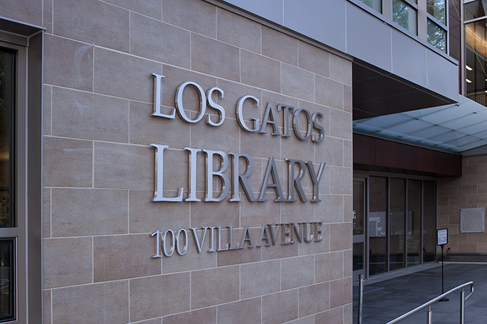 Los Gatos Library Main Entrance