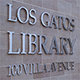 Los Gatos Library Main Title Sign